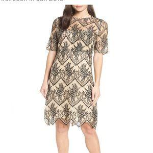 Caara Lace Pocket Shift Dress